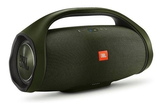Caixa Jbl Boombox Portatil Bluetooth Original Verde Exercito