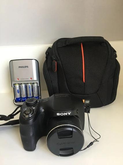 Câmera Cyber-shot Sony Dsc-h100 16.1 Mega Pixels