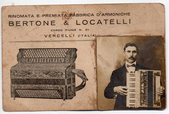 Postales Publicitarias - Bertone Y Locatelli - Acordeones