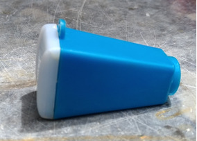 Monóculo Antigo Para Foto Azul A Unidade