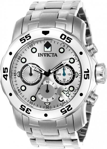 Relógio Invicta Pro Diver 0071 Original Aço Prata Frete