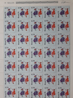 270 = Folha C/ 35 Selos Congada Do Serro - Minas Gerais 1975