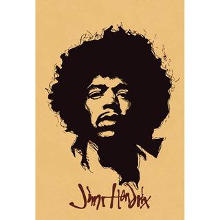 Placa - Quadro - Decorativo - Jimi Hendrix - Rock - (v303)