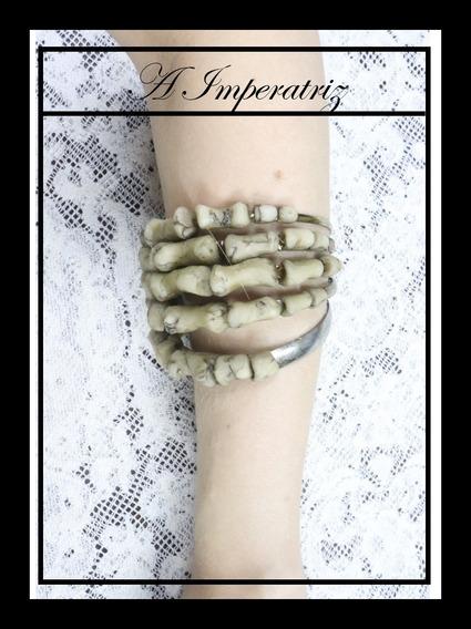 Pulseira Mão Esqueleto (coleção Tarot)