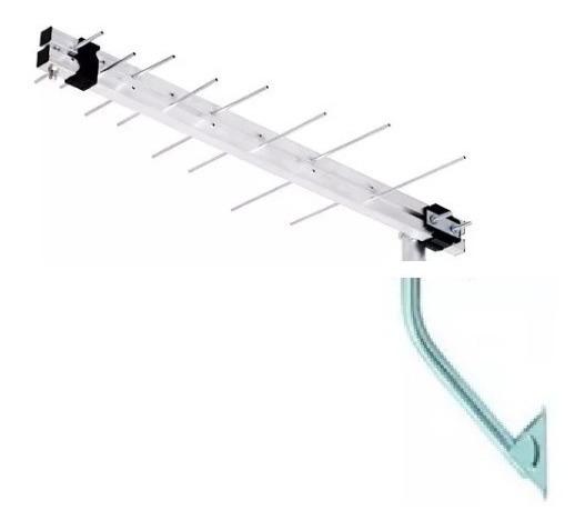 5 X Lu-8p Antena Externa Digital Aquário, Suporte E Cabo