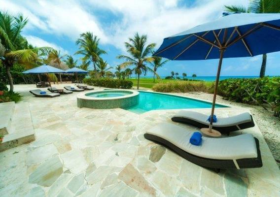 Villa De 4 Hab.frente Al Mar Con Piscina Privada.cap Cana