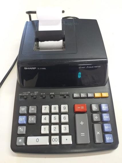 Calculadora Sharp El 2196bl Com 12 Dígitos E Impressora.