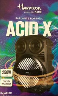 Parlante Portatil Harrison Kanji Acid Max 250 Pmpo Led
