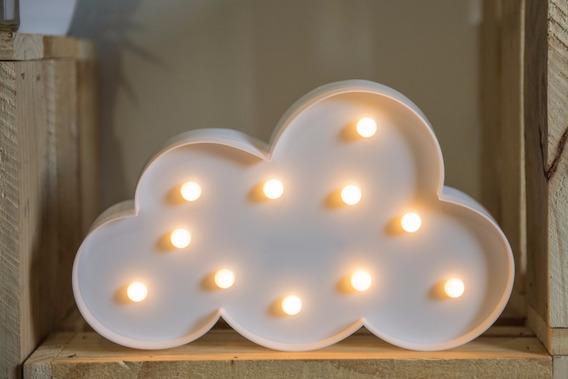Luminária Plástico Decoração Nuvem Led Branca