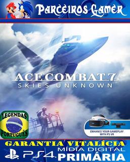 Ace Combat 7 Skies Unknown - Português - Ps4 1 Mídia Digital