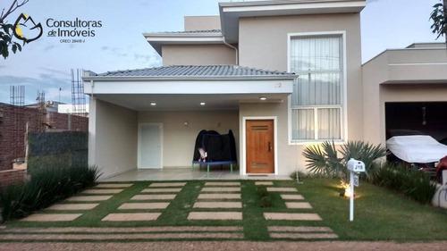 Casa Com 3 Dormitórios À Venda, 265 M² Por R$ 1.293.200,00 - Condomínio Reserva Real - Paulínia/sp - Ca1533