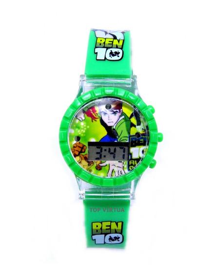 Relógio Ben10 Digital Som E Luzes Pulseira 3d Infantil C331