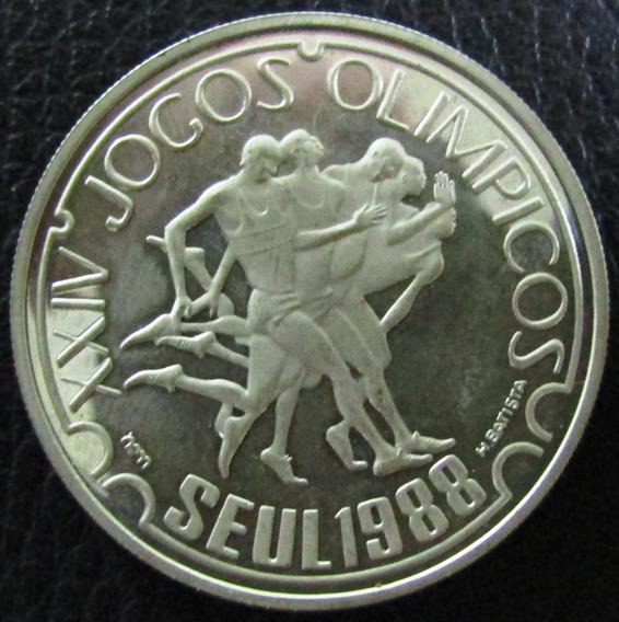 Portugal Moneda 250 Escudos 1988 Plata Juegos Olimpicos