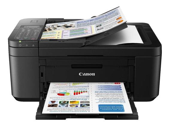 Impressora a cor multifuncional Canon Pixma E4210 com wifi 110V preta