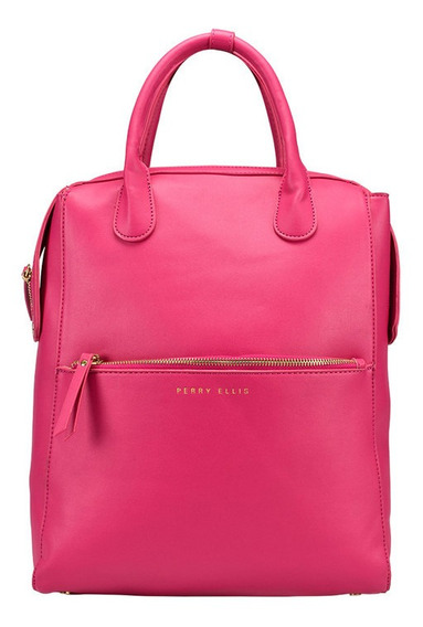Bolsa Back Pack Marca Perry Ellis Rosa, A01947