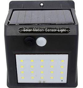 Luminária Solar Parede 20 Led Jardim Piscina Sensor