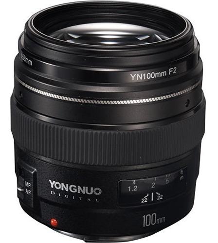 Lente Yongnuo Yn 100mm F/2 Para Canon Ef