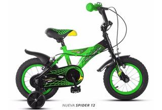 Bicicleta Aurorita Infantil Rodado 12 Spider 3 A 5 Años