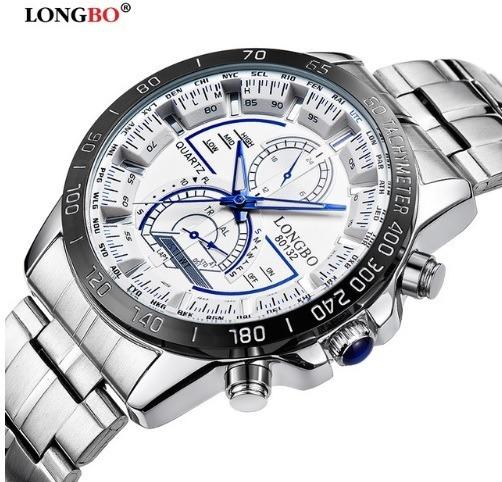 Relógio Masculino Branco Quartzo Não A Prova D