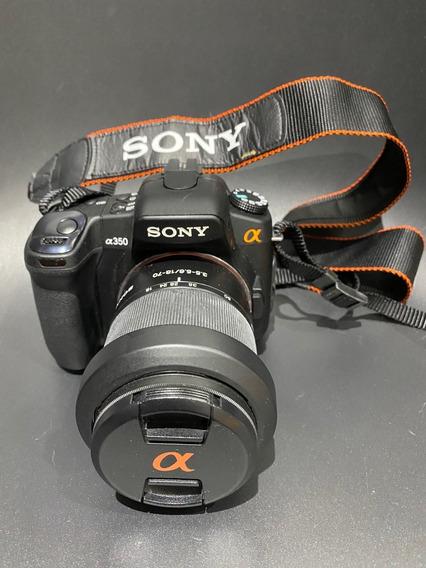 Camera Sony Alpha 350 Com Vários Acessórios