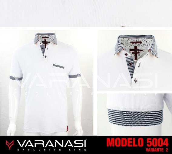 Playera Hombre Tipo Polo 5004 Slim Fit Moda Varanasi