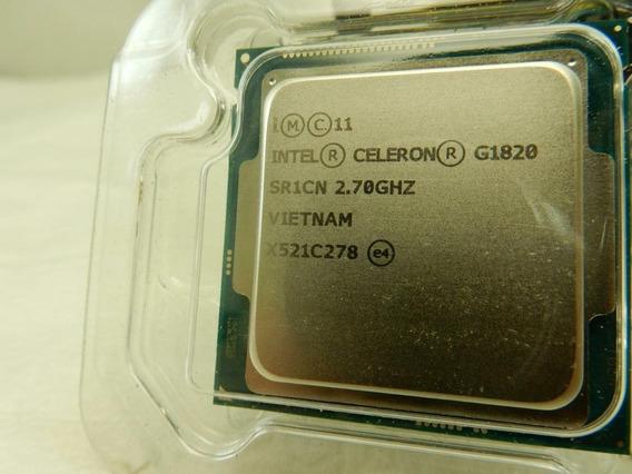 Cpu Celeron Dual Core G1820, 2.7 Ghz / Soquete 1150