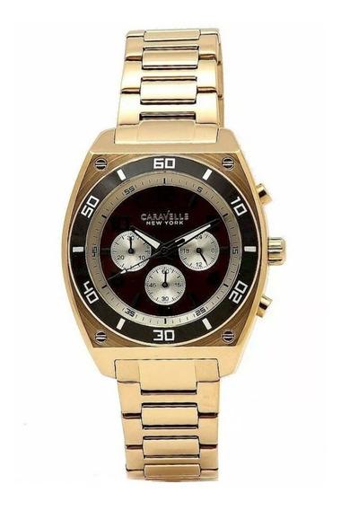 Reloj Caballero. Caravelle By Bulova. Acero Oro Rosa 45a110