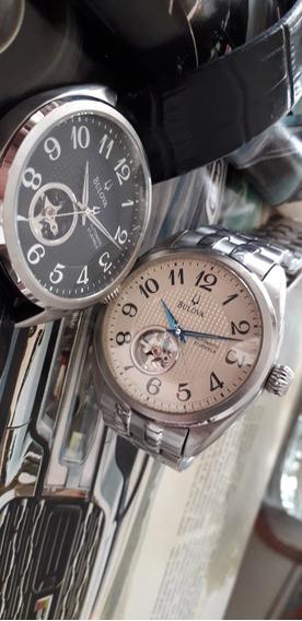 Relógio Bulova 2 Automático Fundo Preto E Fundo Branco 42mm
