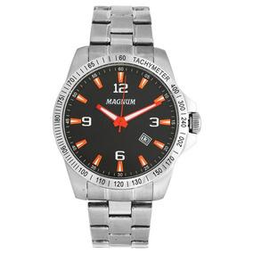 Relógio Masculino Magnum Prata Aco Inoxidável Ma34978j