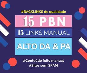 Pbn Premium - 15 Links De Pbn Backlinks Com Qualidade