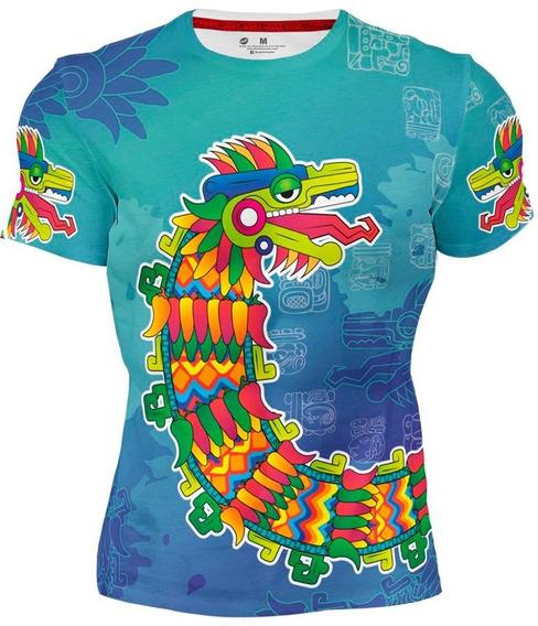 Playera Sublimada Full Print Quetzalcoált 151 Prehispanico