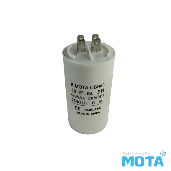 Capacitor Permanente 50µf X 400vac Mota