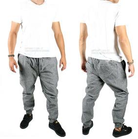 Calça Masculina Jeans Jogger Com Elástico Na Cintura E Barra