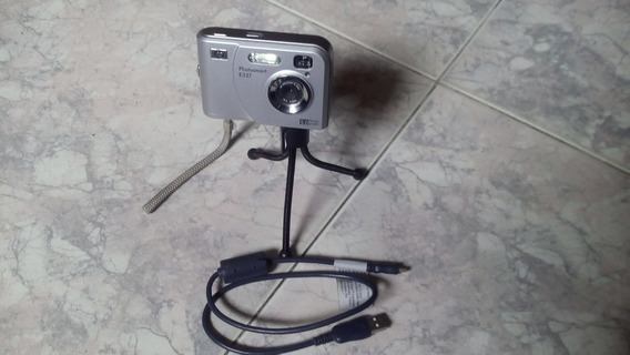 Camara Fotográfica Digital Hp E337 Con Tripode Y Cable Usb