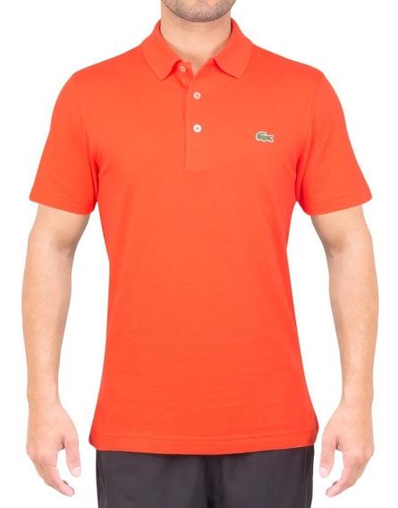 Camisa Polo Lacoste Sport Tennis Regular Fit Lisa - Laranja