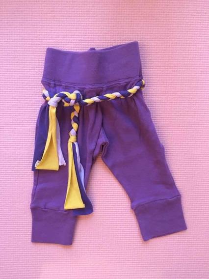Pantalón Lila Con Laso Para Nena
