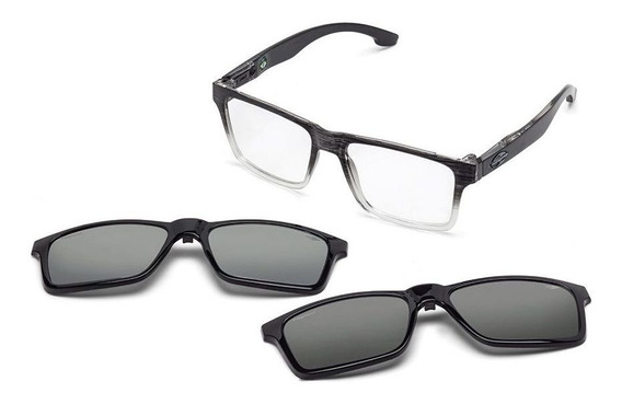 Oculos Grau Mormaii Swap M6057adk56 Preto Clip On Polarizado