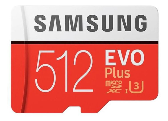 Cartão Samsung Micro Sd Evo Plus 512gb 100mb/s Sdxc U3 4k