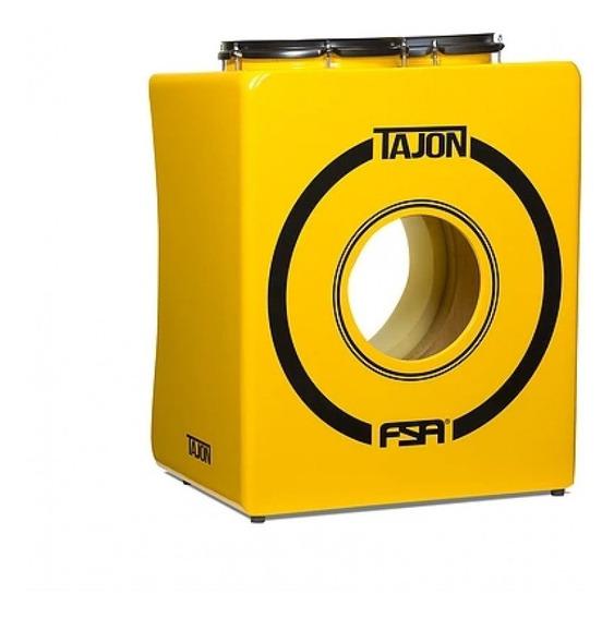 Tajon Fsa Taj22 Bumbo Caixa Tom Cajon Bateria Cor Amarelo