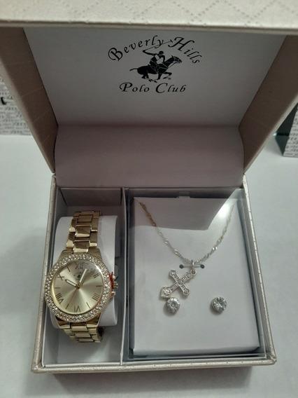 Reloj Dama Polo Club Con Cadena Y Broquel