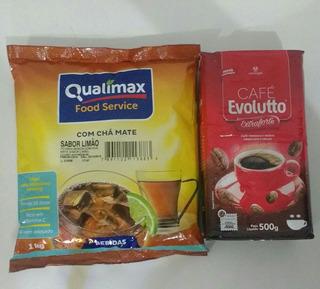 1kg Chá Mate Limão Solúvel + 1 Café Extraforte / Tradicional