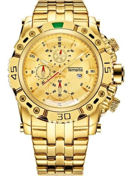 Relógio Masculino Temeite Quartz 3d Original Luxo