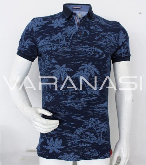 Playera Hombre Tipo Polo 923 Slim Fit Moda Varanasi
