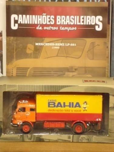 Miniatura Caminhão Casas Bahia + Fascículo Raro