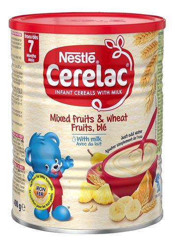 Imagen 1 de 2 de Nestle Cerelac, Frutas Mixtas Y Trigo Con Leche, Latas De 14