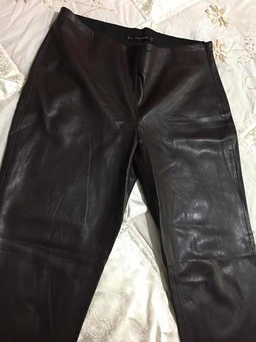 Zara Basic Pantalon Tipo Piel Para Dama Cafe Talla 30l Mercado Libre