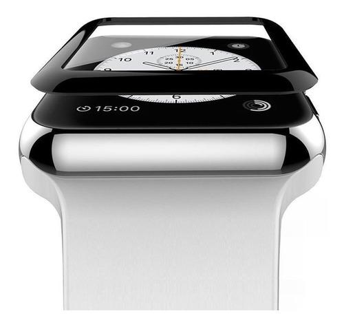 Imagen 1 de 4 de Vidrio Templado 3d Curvo Para Apple Watch 38mm 42mm Serie 3