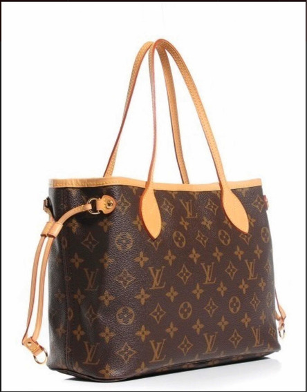 Neverfull Louis Vuitton Couro Legítimo Italiana Manograma Pm