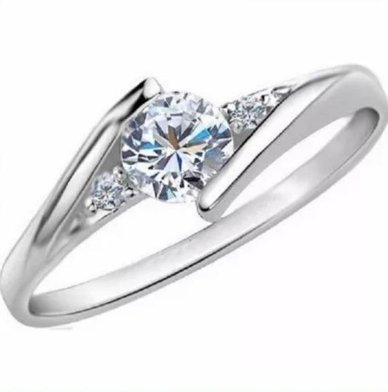 Anillo Compromiso Diamante Natural .35ct 18kt Mtx-co