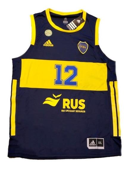 Camiseta De Basquet De Boca Juniors Oficial Adulto 2020